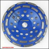 7 Inch Diamond Double Row Cup Wheel For Granite Hard Material Diameter 180mm Grinding Wheel Grinding
