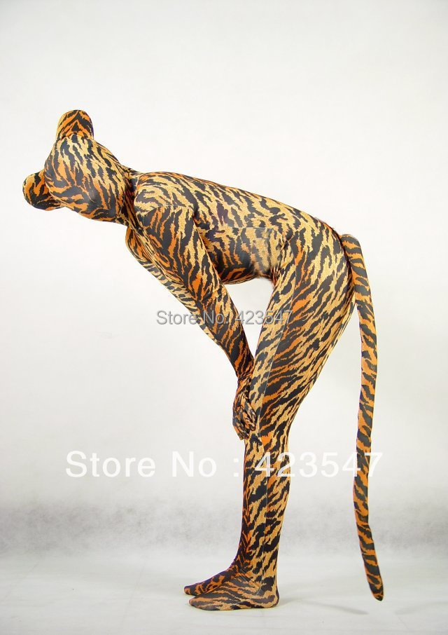 Leopard Unisex Lycra Spandex Zentai Cosplay Halloween party Suit free shipping