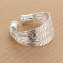 Pure Silver 925 Rings for Women Girl Multi Lines Adjustable Ring Bague Femme Fashion Korea Jewelry Accessory Party Gifts Bijoux(China)