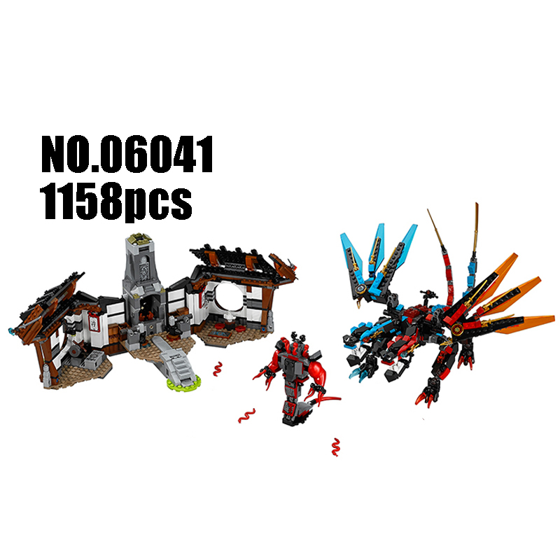 Models Building Toy Ninjago Figure Dragon's Forge 06041 Building Blocks Compatible Lego Ninjago 70627 Toys & Hobbies compatible with lego ninjago 9450 lele 79132 959pcs blocks ninjago figure epic dragon battle toys for children building blocks