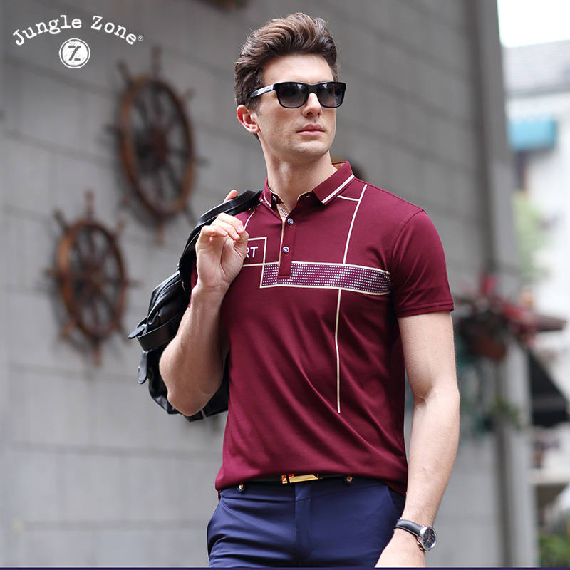 2017 New Summer Polo Shirts Man Short Sleeve Polo Shirt Breathable Brand Printing Men's Polos Homme Business POLO Hot men tops