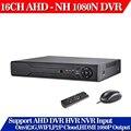 CCTV DVR 16-КАНАЛЬНЫЙ Цифровой Видеорегистратор AHD 16 Канала AHD-NH 1080N гибридный вход Главная Безопасность 1080 P Выход HDMI Onvif P2P 3 Г WI-FI