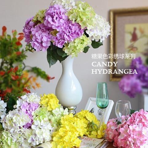 Aliexpress buy 10pcs lot large blue hydrangea decorative 10pcs lot large blue hydrangea decorative artificial silk flower heads faux diy flower for home mightylinksfo