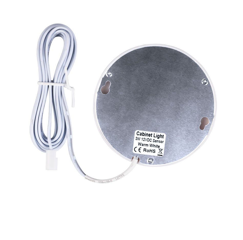 21PCS Under Cabinet Lamps 3W Motion Sensor IR Silver Round LED Puck Counter Led Lights Closet Cupboard Wardrobe Locker Lighting (8)