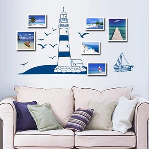 √セーリングボート灯台海カモメ...