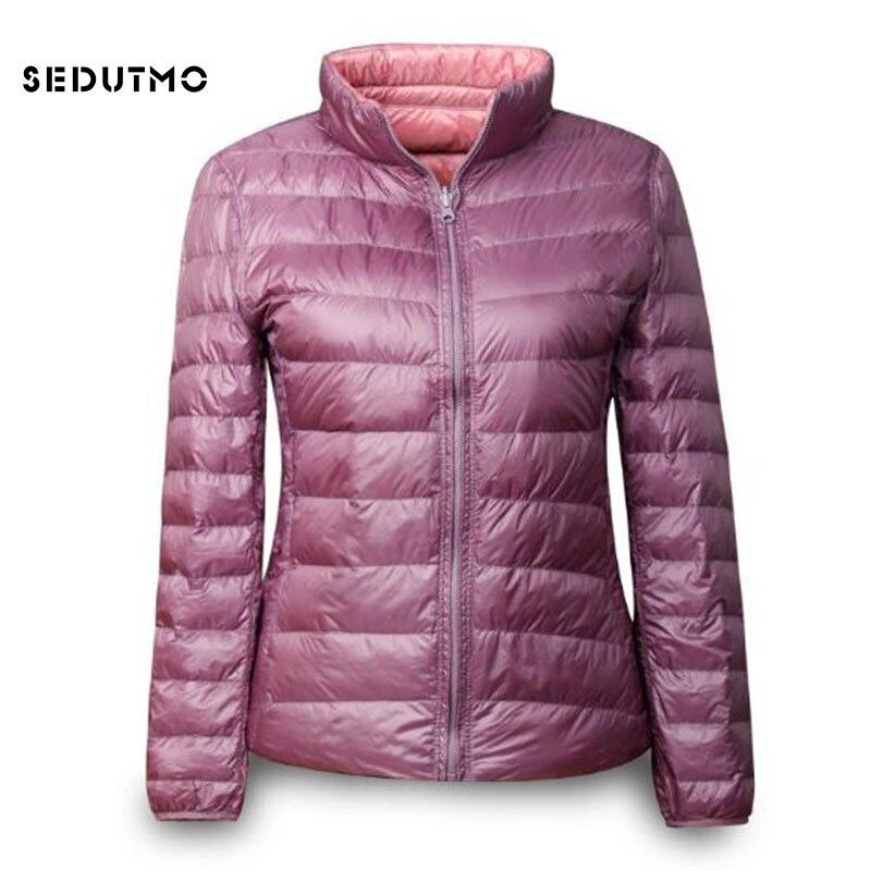 SEDUTMO Winter Ultra Light Women   Down     Coat   Plus Size 3XL Duck   Down   Jacket Autumn Slim Short Thin Puffer Jacket ED339