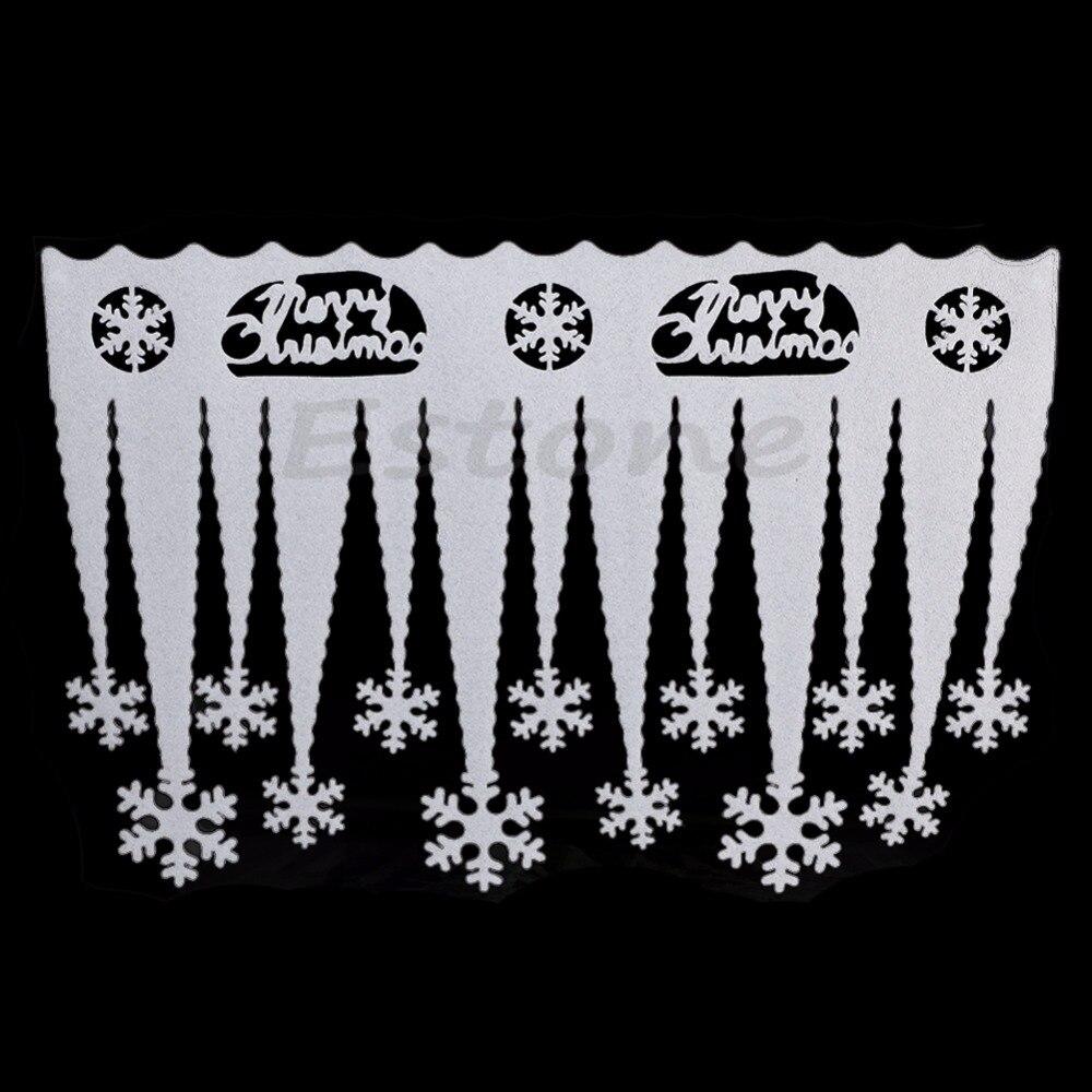 Fuentes Del Partido de fiesta 2 unids Blanco Copo de Nieve de Hielo Tira Ventana