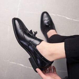 Image 3 - 男性靴のファッションでスタッズリベットローファードレス男性ブローグパーティー除草カジュアルシューズビッグサイズ 48 l4