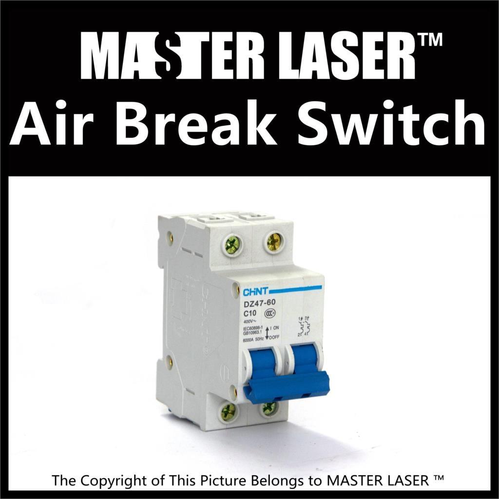 Laser Cutting Marking Engraving Machine DIY Parts DZ47-60 Open Circuit Breaker Bipolar Air Switch 10A elt6500cx circuit breaker generator spare parts