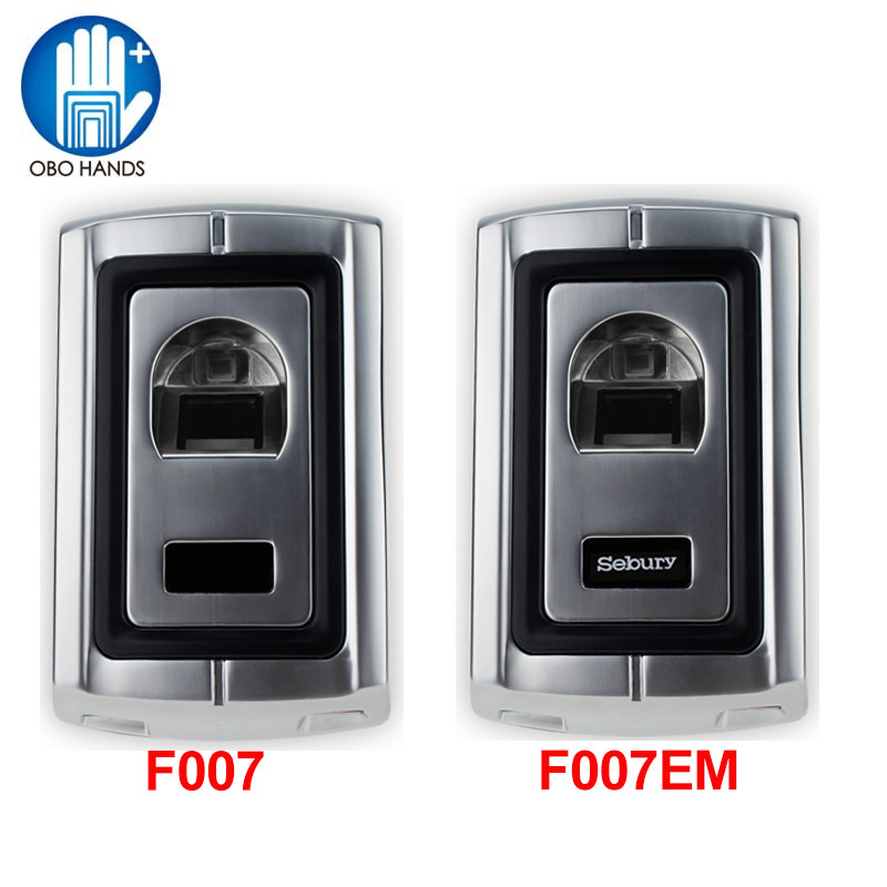 F007 Metal Case Anti-Vandal Biometric Fingerprint Access Controller software with Waterproof Cover and keyfobs biometric fingerprint access controller tcp ip fingerprint door access control reader