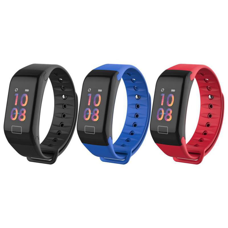 F1 Plus Smart Wristbands Color Screen Sports IP67 Waterproof Smart Bracelet With Heart Rate Monitoring Sports