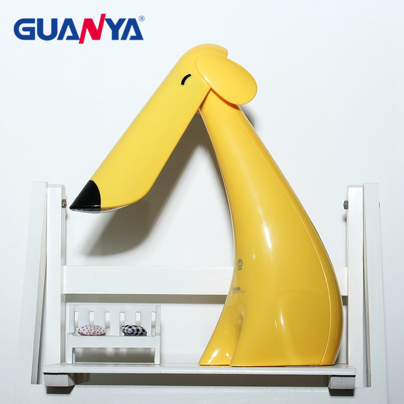 GUANYA 7W Dimmable LED Desk Lamp Light Animal Dog Eye Protection LED Table Light Lamp For Kids Student Reading Light Lamp