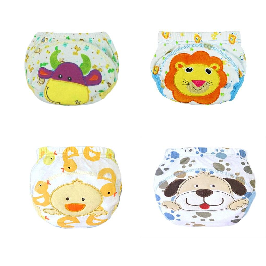 4PCS Cotton Boys Girl Toilet Training Pants Nappy Waterproof Soft Reusable Washable Reusable Nappies/Training Pants/Diaper Cover