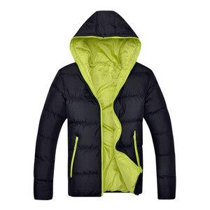 Image 3 - Davydaisy 2019 nova chegada homem parkas inverno homens jaquetas com capuz quente casaco fino marca moda outono jaqueta masculina S 4XL jk082