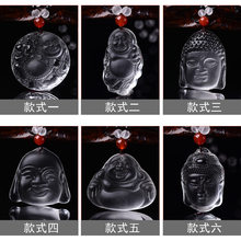 HWW select style white Sakyamuni Buddha head Maitreya Buddha belly pendant necklace(China)