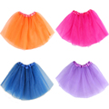 Caliente venta 16 colores niñas bebés Tutu falda translúcidos 3-Layer neto del hilado niños bailan la falda hermosa del deporte de las muchachas de la falda