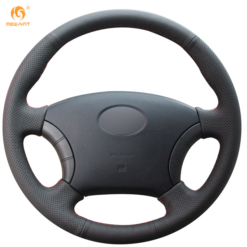 MEWANT Black Genuine Leather Car Steering Wheel Cover for Great Wall Haval Hover H3 H5 Wingle 3 Wingle 5 front fog lights left or right plastic surface for great wall hover haval h5 wingle 5 euro steed 5 diesel 4116100 4116200 k80