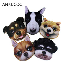 New Kawaii 3D Dogs Prints Women Plush Coin Purse Cute Kids Purse Wallet Bag Coin Pouch Children Purse Holder Women Coin Wallet цена