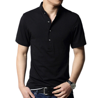 T Shirt Men Brand Casual Short Sleeve Summer Black Top Tee Shirt Homme Cotton Slim Fit