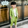 2016 New Design Boys Solid color Wedding Suit Brand England Style Gentle Boys Formal Waistcoat Suit Kids Spring Clothing Set