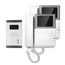 "El Envío de fress de Mano 4.3 ""Pantalla a Color TFT de Video de La Puerta Teléfono Intercom Timbre de La Cámara Al Aire Libre para 2 Casa de La Familia ENVÍO LIBRE"