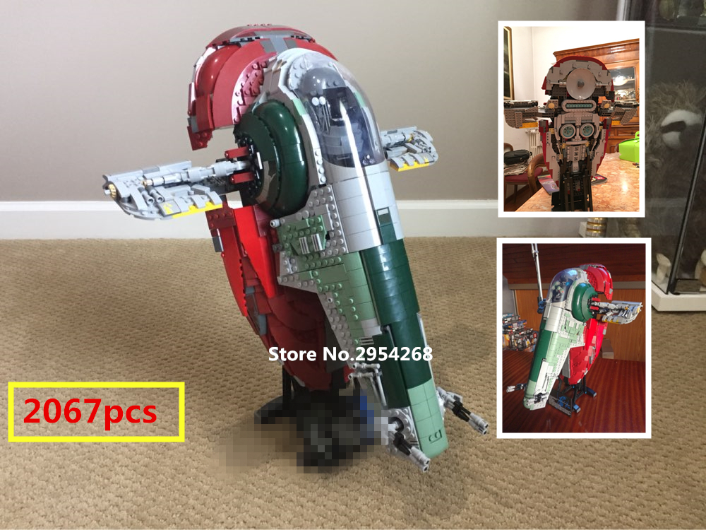 05037 star wars ship UCS Slave I Slave NO.1 model Building kit Block Bricks lepin Toys Kits Compatible 75060 Children Gift new lepin 22001 pirate ship imperial warships model building kits block briks toys gift 1717pcs compatible