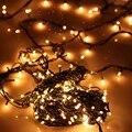 4 М 100 Светодиодов Рождество Украшение Лампы Медной Проволоки Фея Огни Строки ЕС PlugSafety