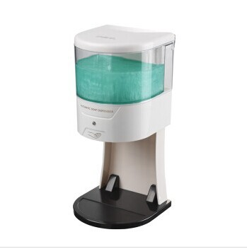ФОТО Free shipping European fashion design  Fully automatic & 100% touch free 600ml automatic liquid soap dispenser with base