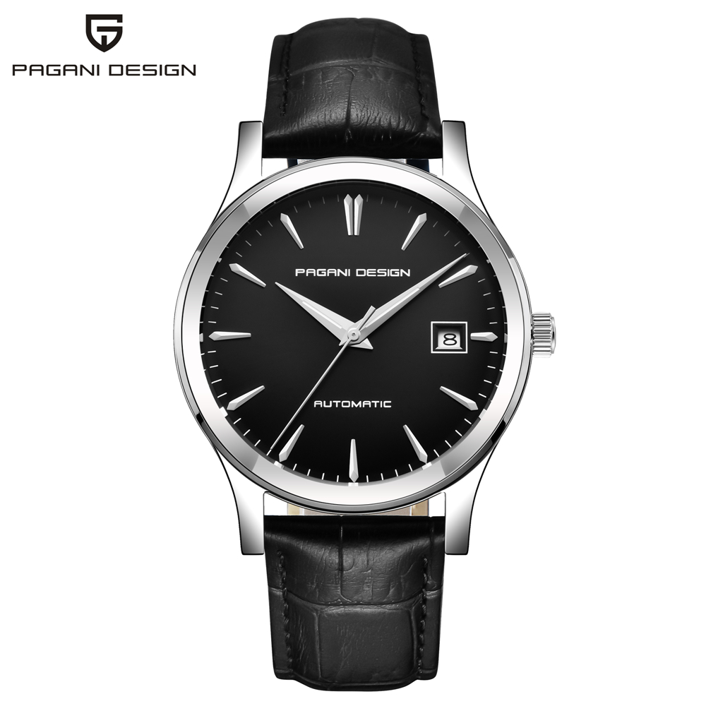 HTB1ccUWKf5TBuNjSspcq6znGFXay 2019 new Ultra-thin simple classic men mechanical watches business waterproof watch luxury brand genuine leather automatic watch