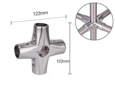 2PCS/LOT Premintehdw 32mm tube clamp pipe clamps chrome aluminum display fittings Cross