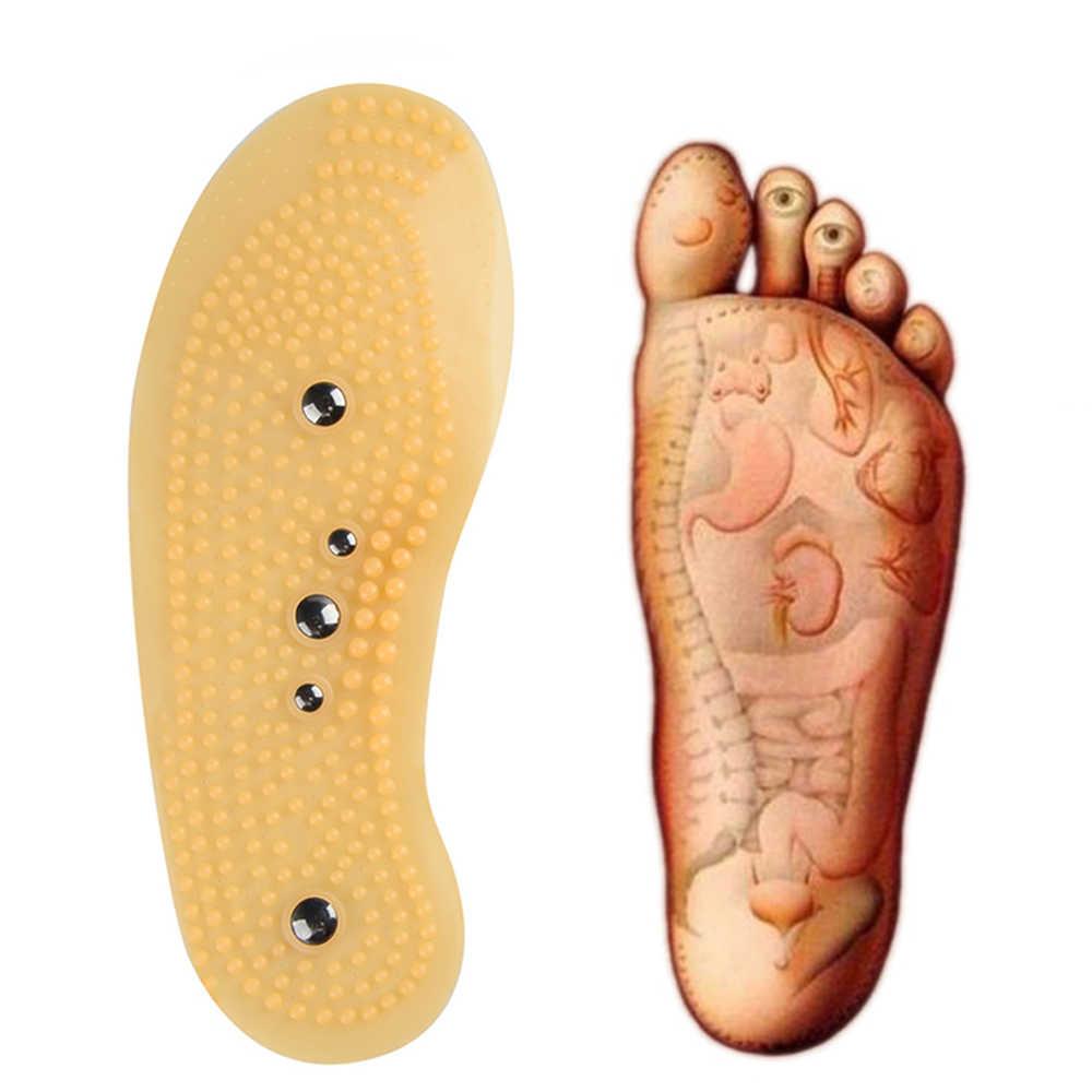 治療インソール男性の女性のためフットマッサージャーマグネット痩身血液循環健康ケア靴パッド SoleDropshipping