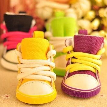 Autumn Winter warm Pet Dog Denim Shoes Dog Shoes