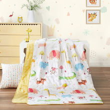 ФОТО beyond brand quality 100% cotton quilt 2018 summer bed covers for children lovely cartoon pattern blanket for bed sofa