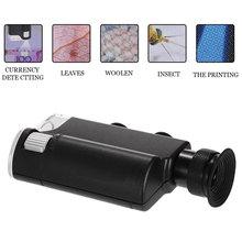 0-100X Портативная Лупа, увеличительная лупа, регулируемый микроскоп, многофункциональная лупа, светодиодный, УФ-светильник