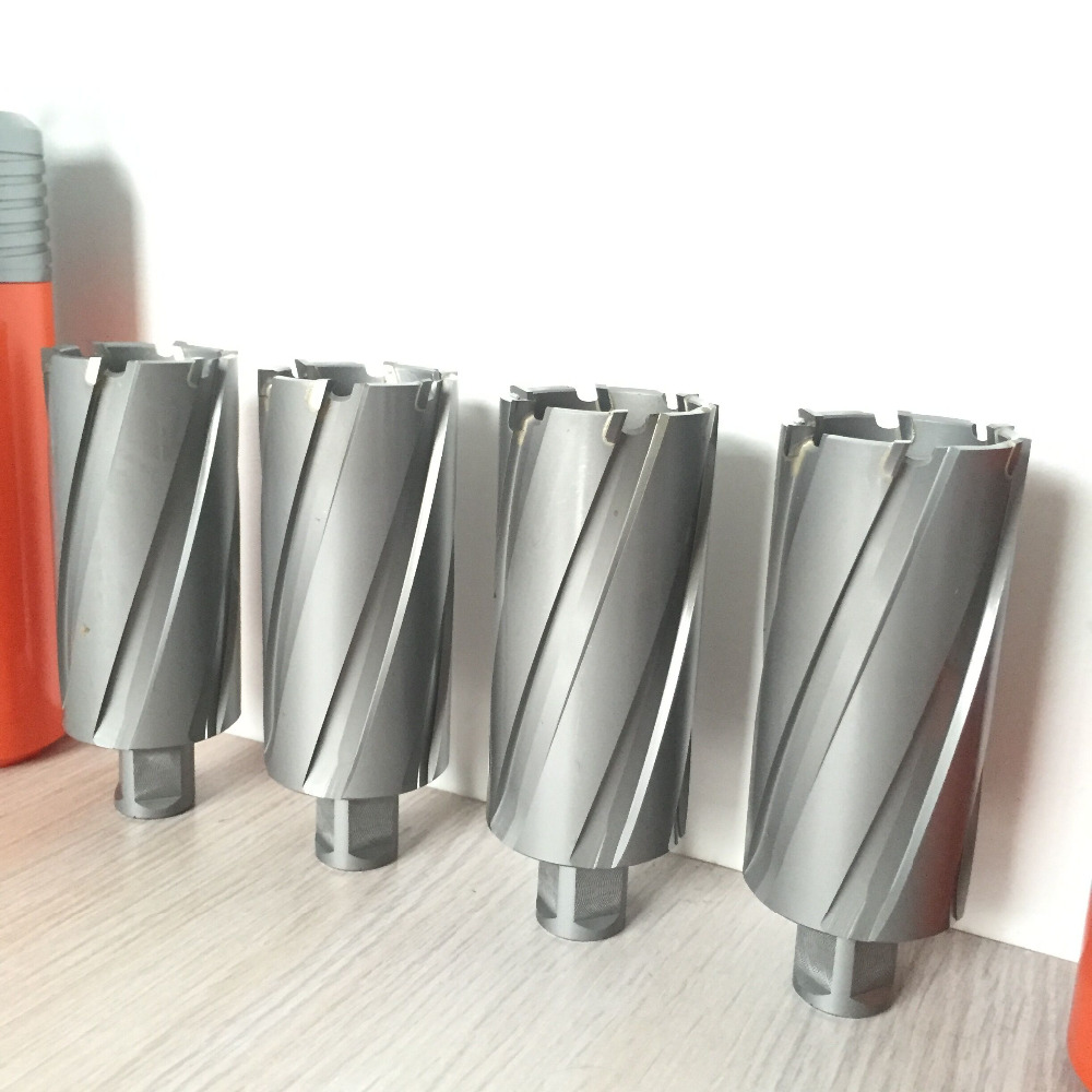 TCT Annular Cutter With Weldon Shank Hard Alloy Hollow Core Drill For Metal TCT Hole Saw