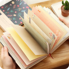 Lovely Creative Notebook Beautiful Diary Note Book, Colored Inner Pages School Students Writring Pad недорого