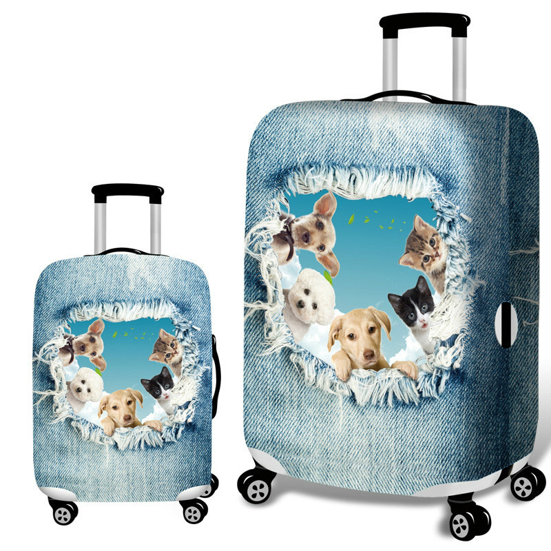 Animal Pattern Luggage Protective Cover Trolley Case Travel Suitcase Thick Elastic Dustproof Case Cover