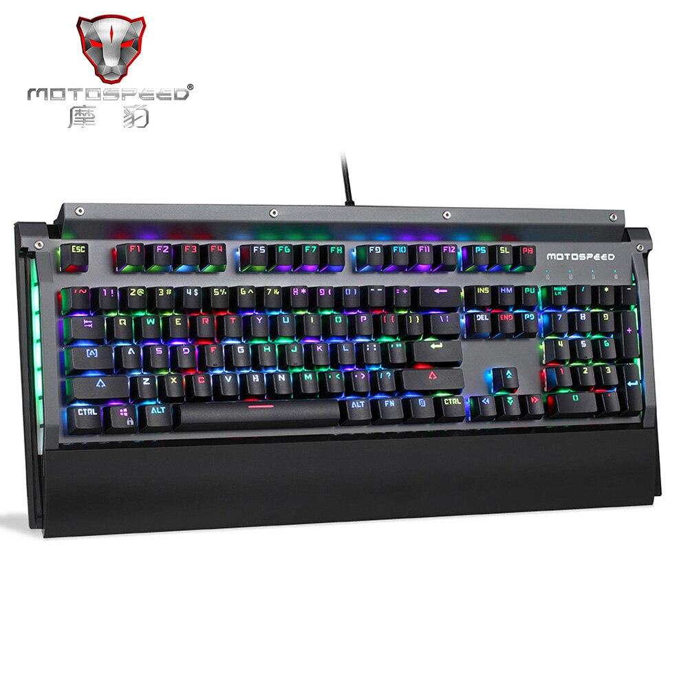 Оригинальный мото Скорость CK98 механическая клавиатура 104 ключей USB 2,0 Kailh коробка переключения проводной 0,1 мс ответ Скорость 800 млн. черный