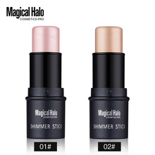 1pcs Water-proof Highlighting Powder Silver Face Cover Moisture Creamy Highlighter Stick Texture Shimmer Light