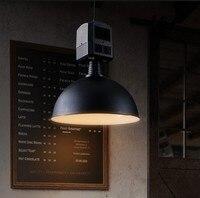 Edison Loft Style Industrial cubierta de viento Droplight Vintage colgante de accesorios de luz para comedor lámpara colgante iluminación interior