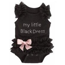 Baby Bodysuits My Little Girl Black Bodysuit Jumpsuits 1 2 Y