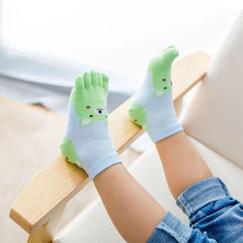 New Design Toddler Baby Kids Girls Boys Cute Cartoon Socks Babies Child Animal Five Fingers Sock Hosiery Toe Sock Accessories