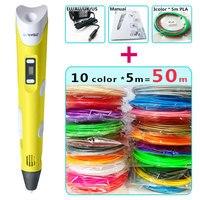 Myriwell 2 Generation Pen 10 5m ABS Filament Creative 3d Pen Doodler Children Gifts 3d Drawing