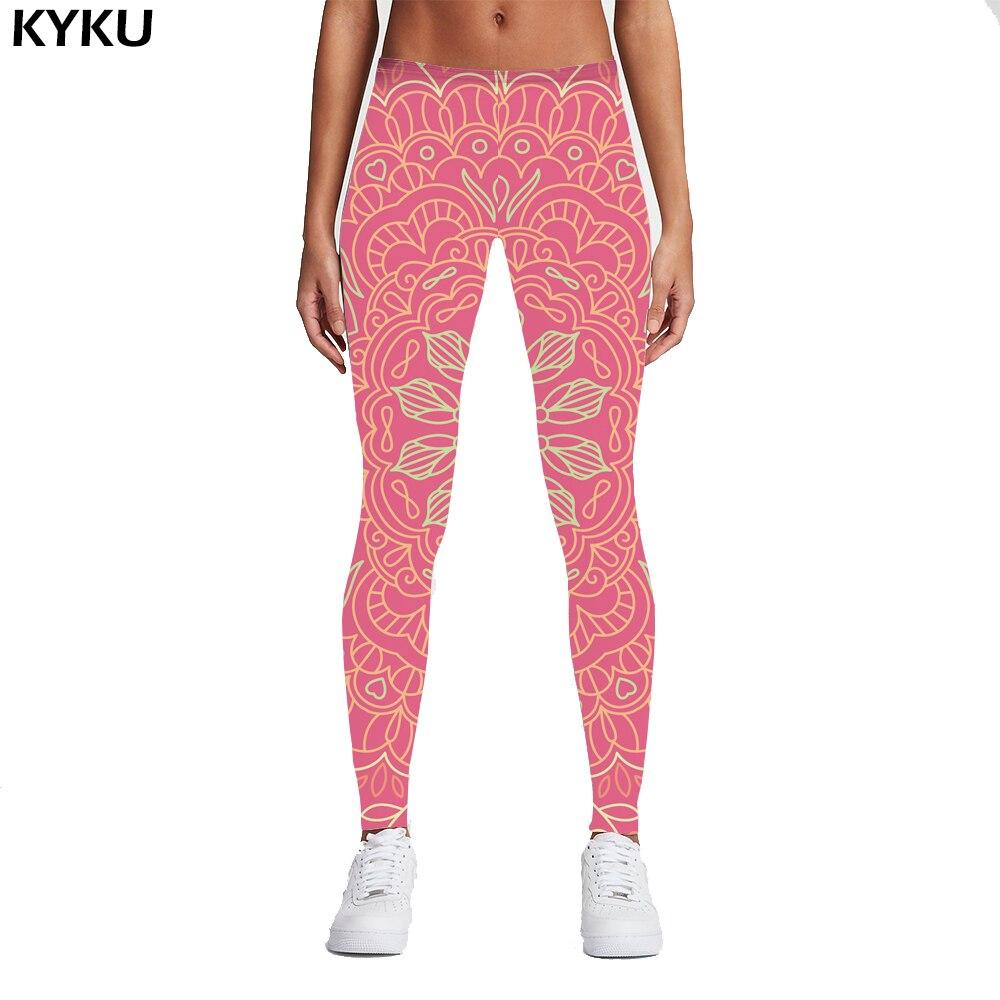 KYKU Brand 2017 High Quality Women Legins Mandala Ombre Blue Printing Legging Fashion Casual High Waist Woman Leggings Fitness