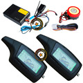 russian manual motorcycle security system with 2pcs lcd remote,433.92mhz learning code,shock sensor alarm trigger,two way alarm
