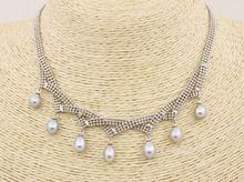 Серое каплевидное жемчужное ожерелье 7 мм x 9 Ювелирные изделия