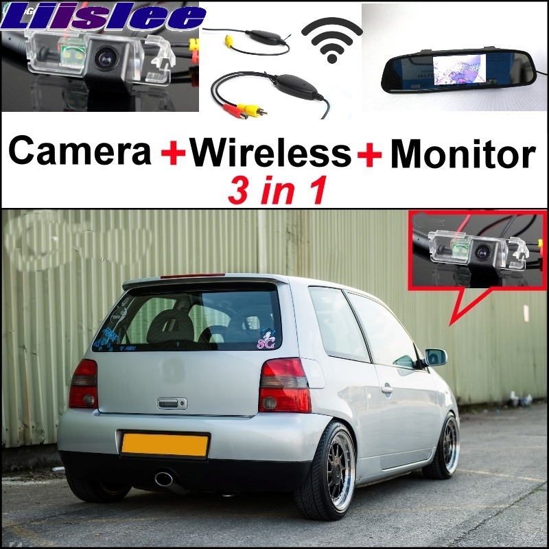 For Volkswagen VW Lupo 1998~2006 Liislee 3 in1 Special Rear View Camera + Wireless Receiver + Mirror Monitor Easy Parking System liislee for renault samsung qm5 3 in1 special rear view camera wireless receiver mirror monitor easy back parking system