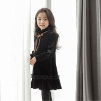 2019 New Baby Girl Autumn Dress Kids New Arrival Dress Children Top Silver Fox Toddler Lace Ruffles Dress Soft Comfortable,#3275