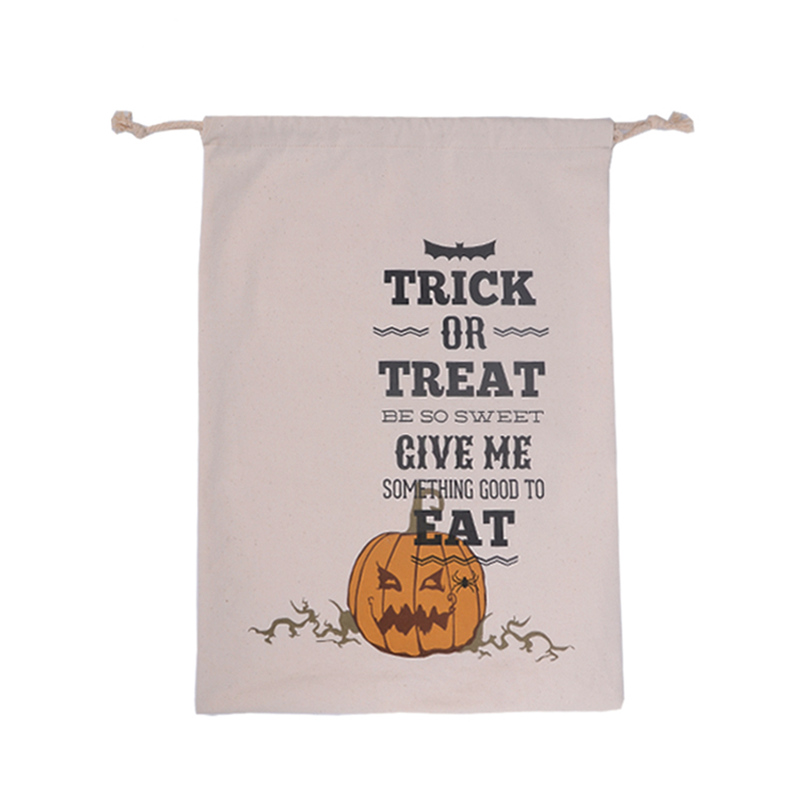 new hot holiday decoration halloween candy sugar gift bags storage kids children canvas gifts bag baby - 2017 Halloween Candy