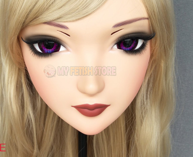 Costumes & Accessories female Sweet Girl Resin Half Head Kigurumi Mask With Bjd Eyes Cosplay Japanese Anime Role Lolita Mask Crossdress Doll zhi-3 Novelty & Special Use